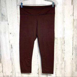 RBX Brown Live Life Activewear Skinny Capri Sz Med